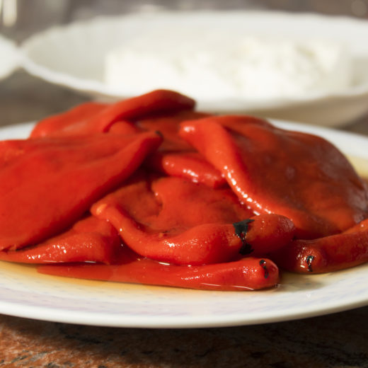 Peeled red pepper