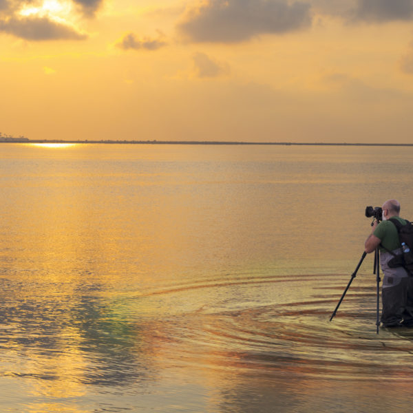 Photographer and seascape