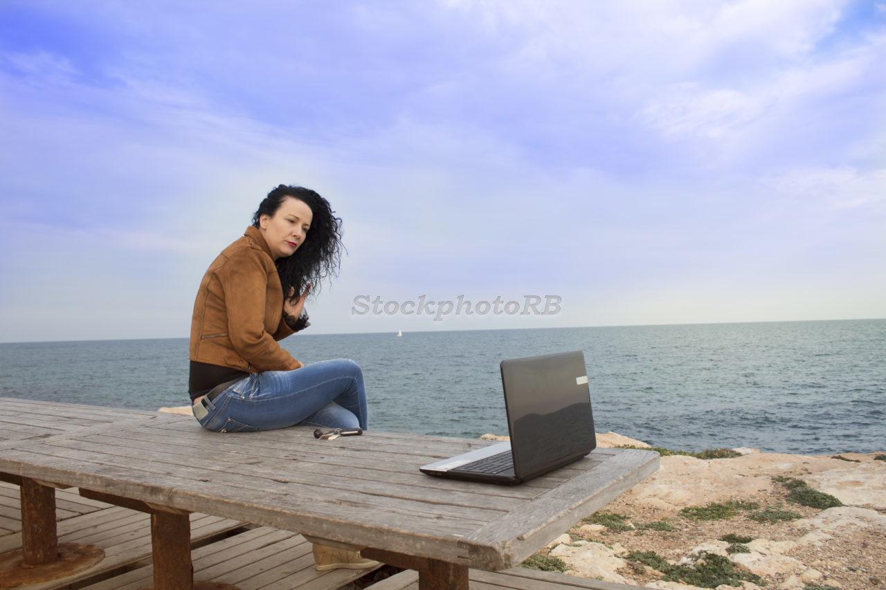 Woman on the beach-3