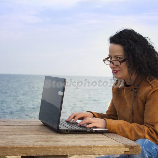 Woman on the beach-4