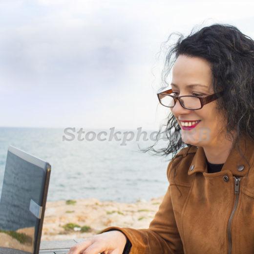 Woman on the beach-9