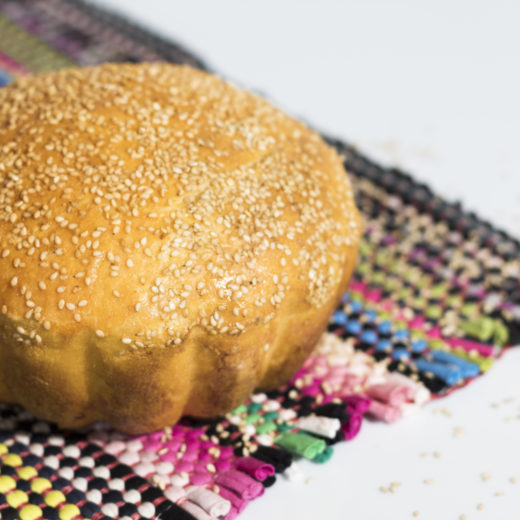 Homemade bread with sesame-2