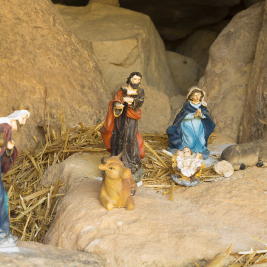 Scene of the birth of Jesus Christ