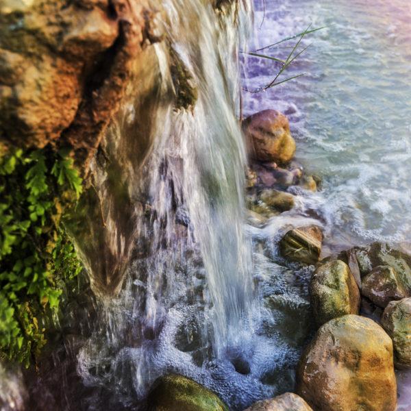 Water kisses stones