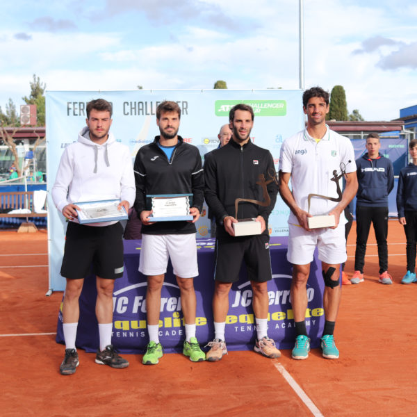 Pedro Martínez (ESP), Gerard Granollers(ESP), Guillermo Duran (ARG) and Thomaz Bellucci (BRA)