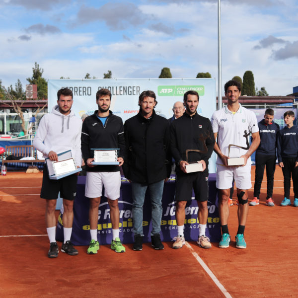 Pedro Martínez (ESP), Gerard Granollers(ESP), Juán Carlos Ferrero, Guillermo Duran (ARG) and Thomaz Bellucci (BRA)