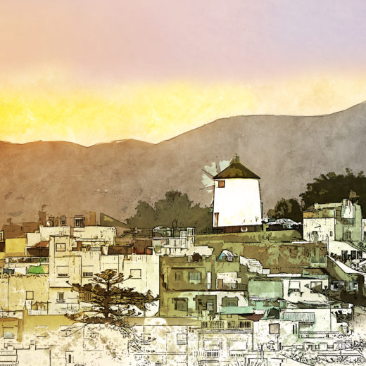 Sunset over Aguilas