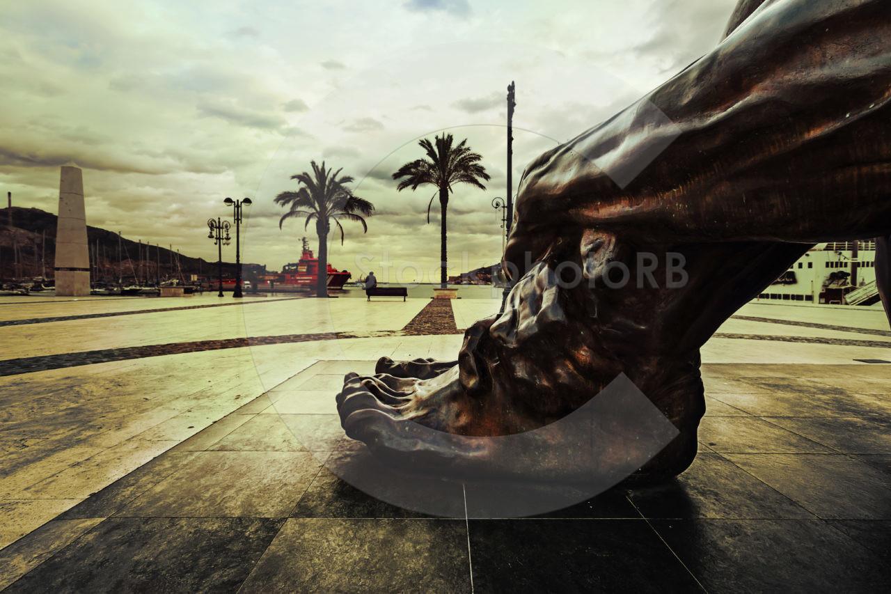 Sculpture El Zulo of Cartagena