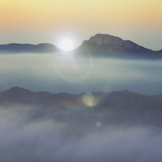 Sunrise above the mountains