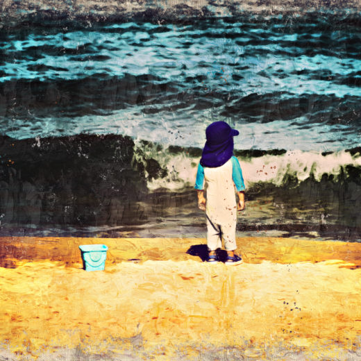 A child on the shore
