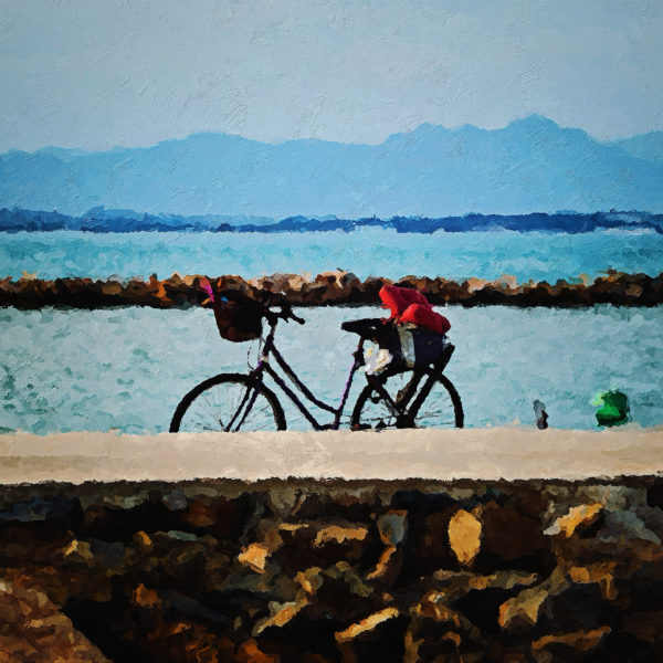 Bicycle on the shore