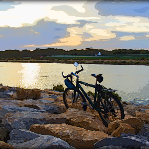 Bicycle on the stones