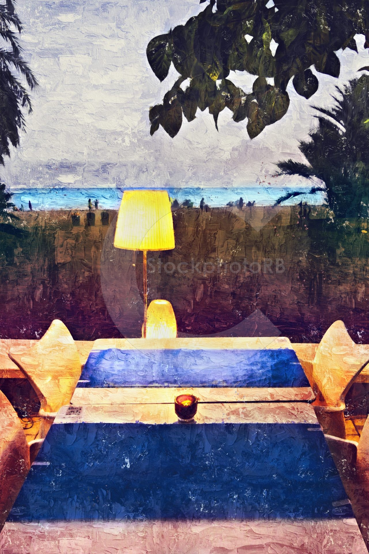 Lamp on the coast
