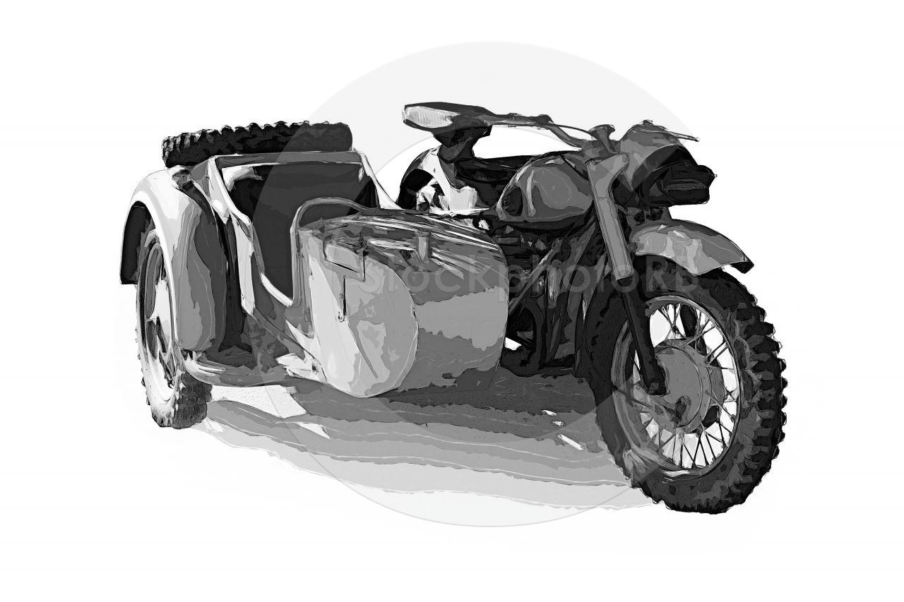 BMW 1942 R75 German motorcycle sidecar