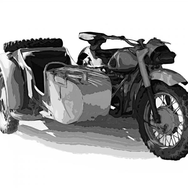 BMW 1942 R75 German motorcycle sidecar